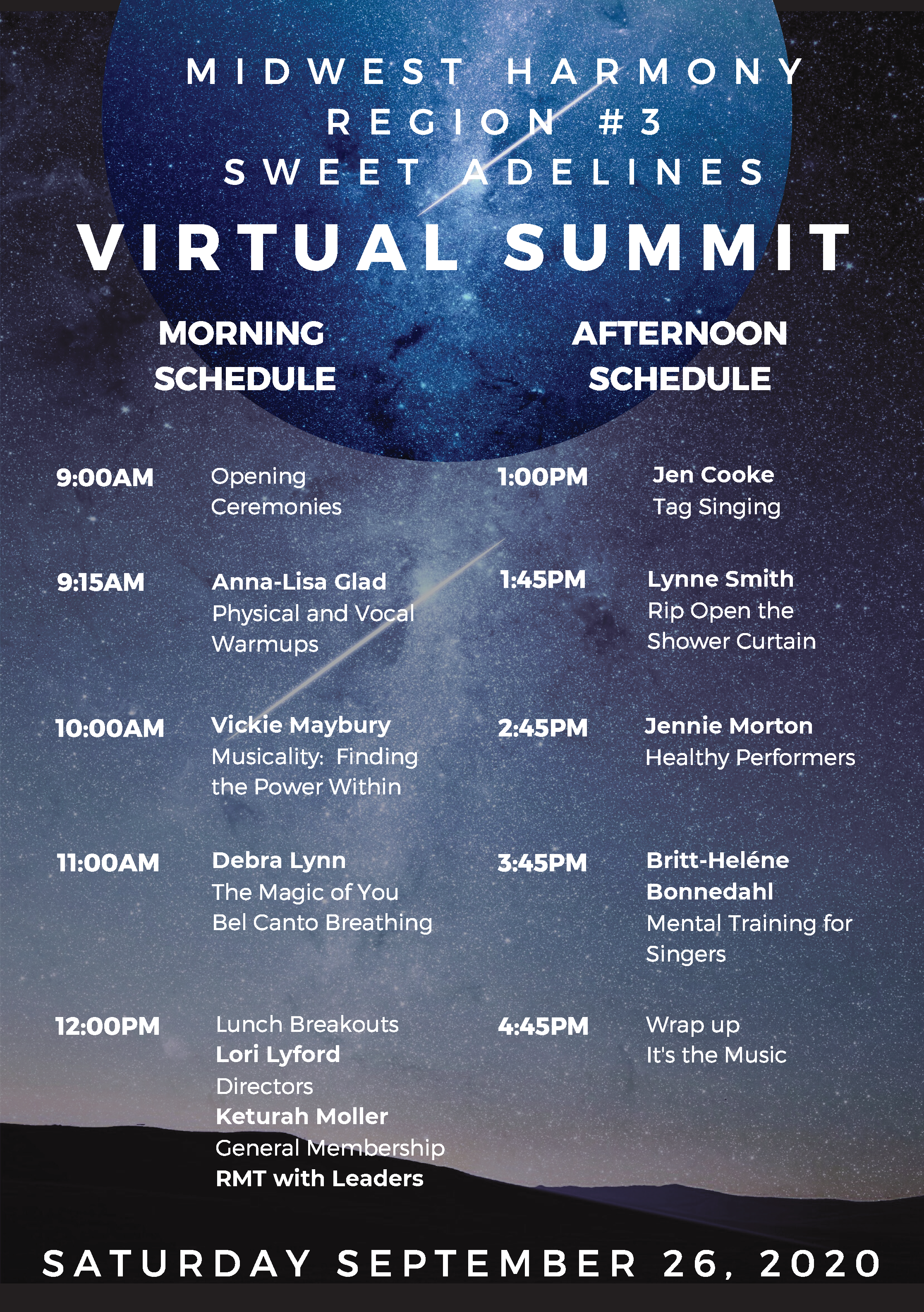 summit 2020 schedule