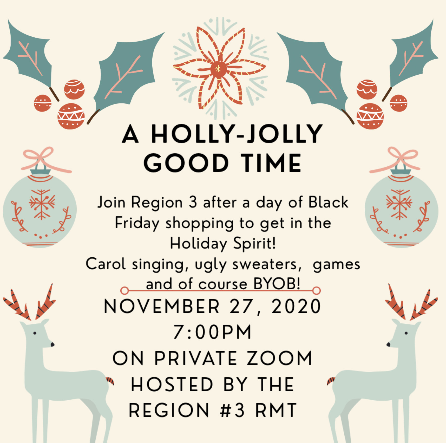 Holly Jolly good time Happy Hour